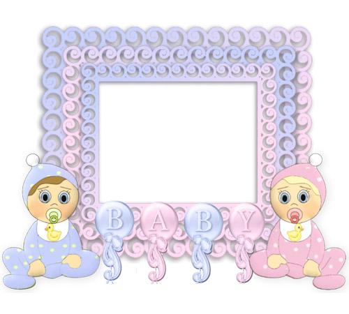 Рамки для новорожденных: Малыш и малышка