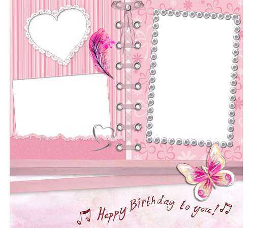Праздничные рамки для фотошопа: Happy Birthday!