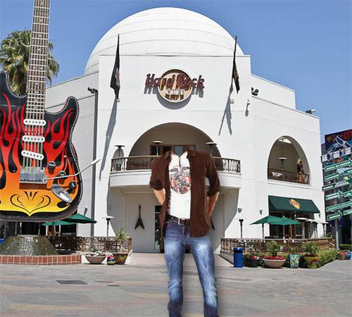 Мужские шаблоны для фотошопа: Hard Rock cafe
