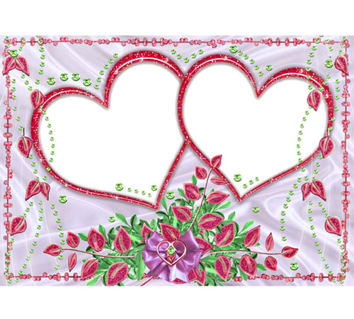 Рамки  - сердечки для фотошопа: Два родных сердечка