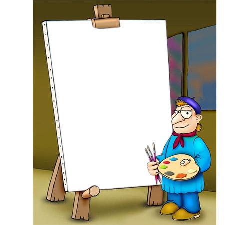 Праздничные рамки для фотошопа: Картина с Вашим фото