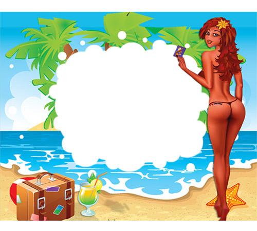 Мужские рамки для фотошопа: Вспоминая лето...