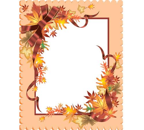Рамки с цветами для фотошопа: Осенняя композиция