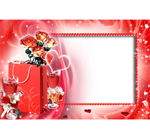 Рамки  - сердечки для фотошопа: Подарок любимому человеку