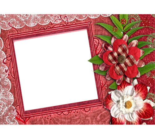 Рамки с цветами для фотошопа: Скрап рамочка