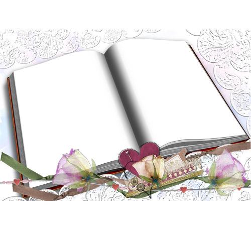 Праздничные рамки для фотошопа: Книга жизни