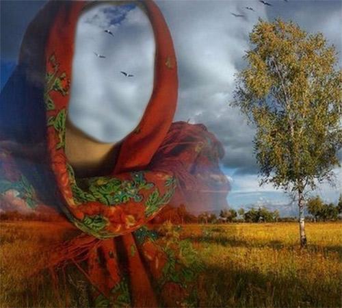 Женские шаблоны для фотошопа: Русь матушка