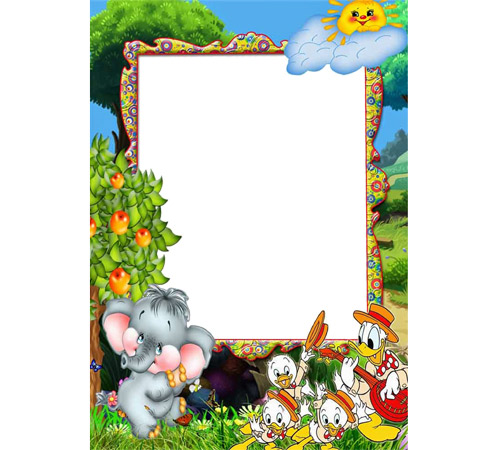 Детские рамки для фотошопа: Поющие утята