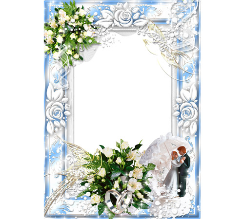 Праздничные рамки для фотошопа: День Свадьбы!