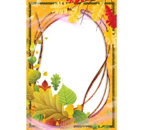 Женские рамки для фотошопа: Осенний коллаж
