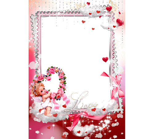 Рамки  - сердечки для фотошопа: Love