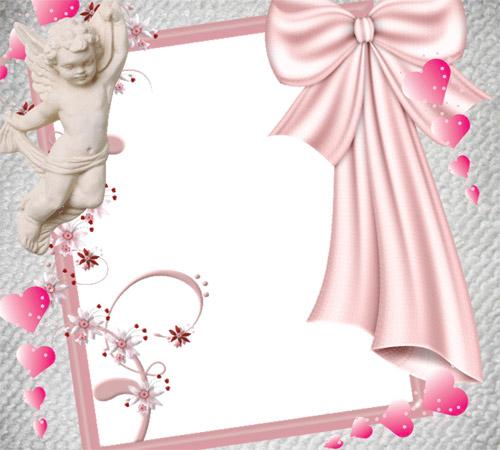 Рамки  - сердечки для фотошопа: Ангелочек