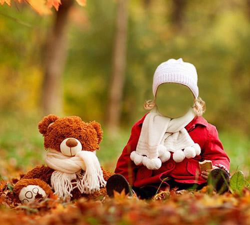 Детские шаблоны для фотошопа: Осенний парк