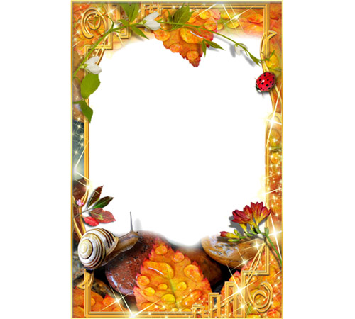 Рамки с цветами для фотошопа: Утренняя роса