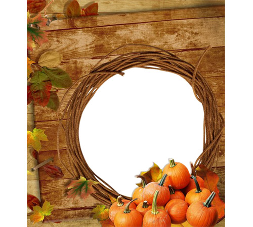 Рамки с цветами для фотошопа: Дары осени