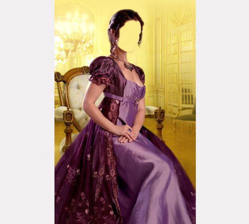 Женские шаблоны для фотошопа: Княжна во дворце
