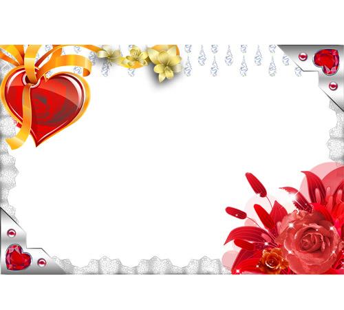 Рамки  - сердечки для фотошопа: Сердечко на подвязке