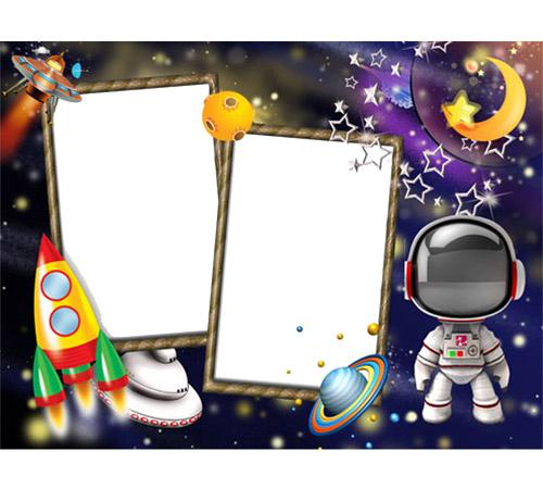 Детские рамки для фотошопа: Космические истории