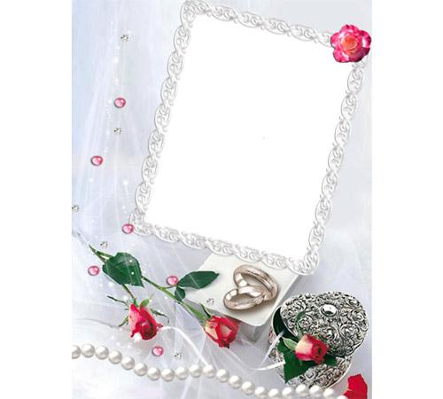 Праздничные рамки для фотошопа: Свадебные кольца