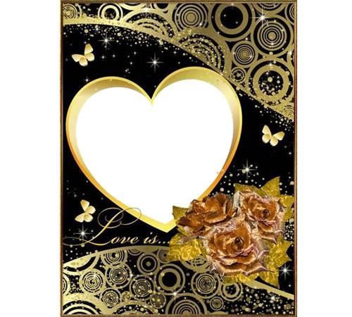 Рамки  - сердечки для фотошопа: Love is...