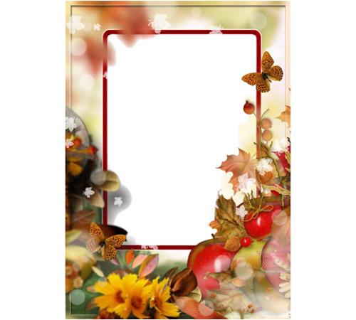Рамки с цветами для фотошопа: Осень пришла...