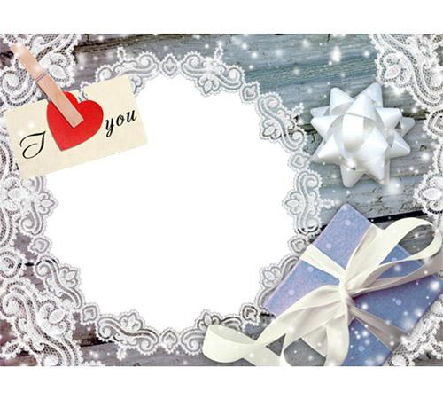 Праздничные рамки для фотошопа: Я тебя люблю!