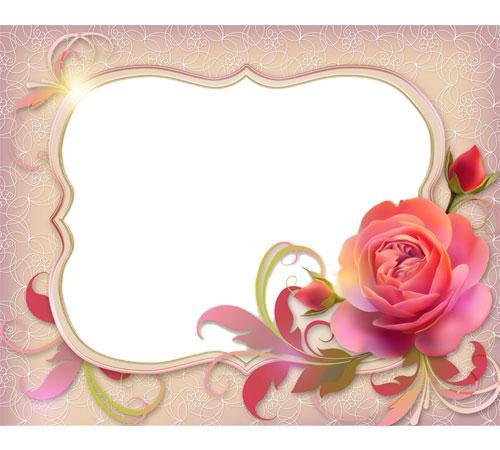 Рамки с цветами для фотошопа: Чудная роза