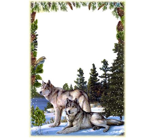 Мужские рамки для фотошопа: Волки