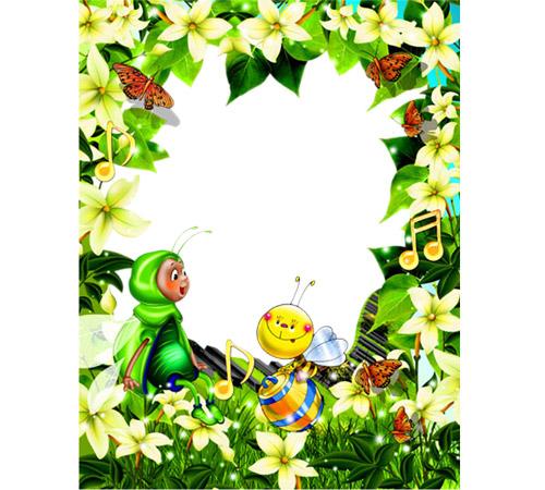 Детские рамки для фотошопа: Пчелки с медом