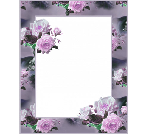 Рамки с цветами для фотошопа: Розовые розы