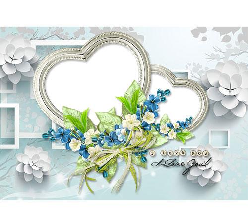 Рамки  - сердечки для фотошопа: Я тебя люблю...
