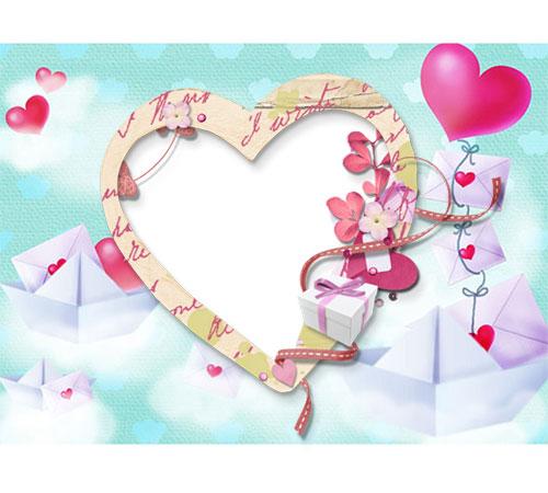 Рамки  - сердечки для фотошопа: Письма о любви