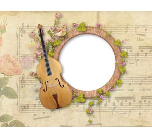 Рамки с цветами для фотошопа: Музыка цветов