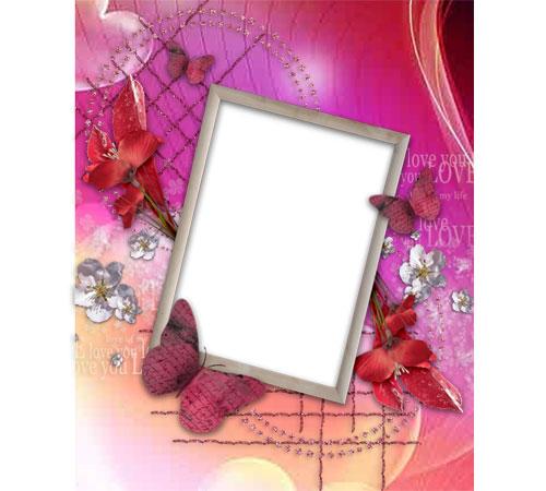 Женские рамки для фотошопа: Романтическая рамка