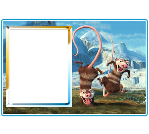 Рамки с героями мультфильмов: Ледниковый период