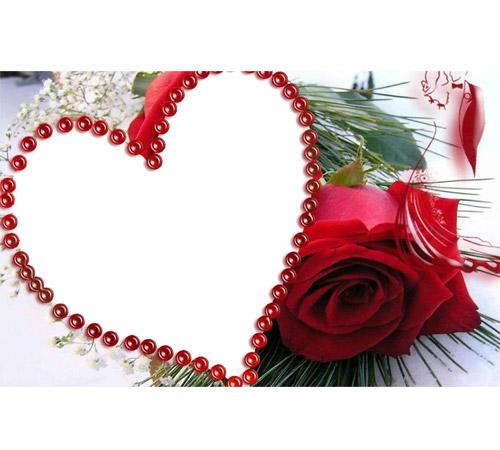 Рамки с цветами для фотошопа: Роза и сердце
