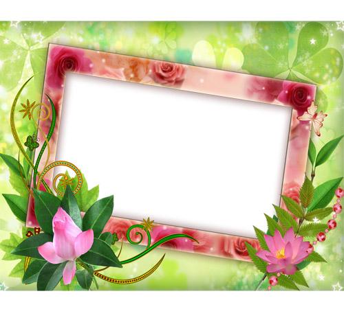 Рамки с цветами для фотошопа: Чудесные цветы