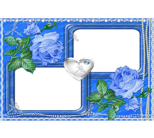 Рамки  - сердечки для фотошопа: Сердце одно на двоих