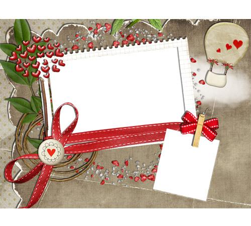 Рамки  - сердечки для фотошопа: Сердечки