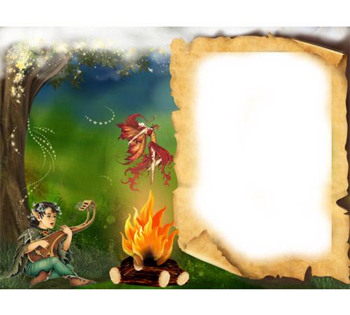 Рамки с героями мультфильмов: Лесной эльф