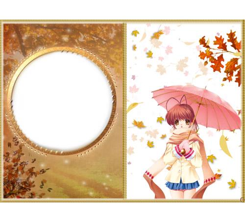 Женские рамки для фотошопа: Осенние этюды