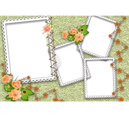 Рамки с цветами для фотошопа: В семейный альбом