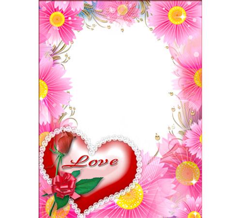 Рамки  - сердечки для фотошопа: Love!