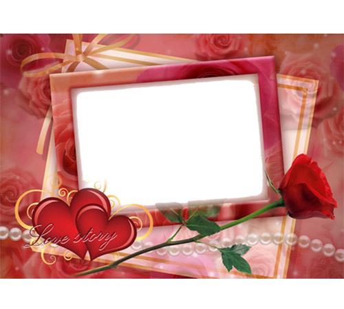 Рамки  - сердечки для фотошопа: Love story