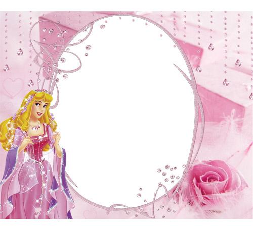 Рамки с героями мультфильмов: Маленькая принцесса