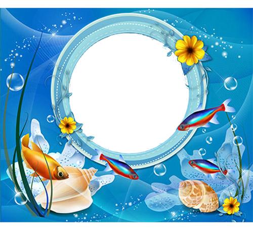 Детские рамки для фотошопа: Подводный мир