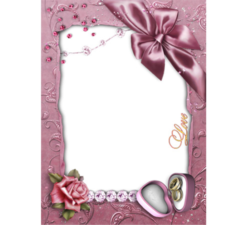 Рамки  - сердечки для фотошопа: Романтическая