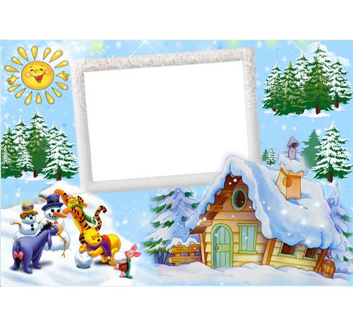Детские рамки для фотошопа: Зимние развлечения