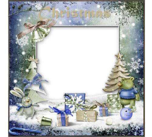 Праздничные рамки для фотошопа: Рождественская!