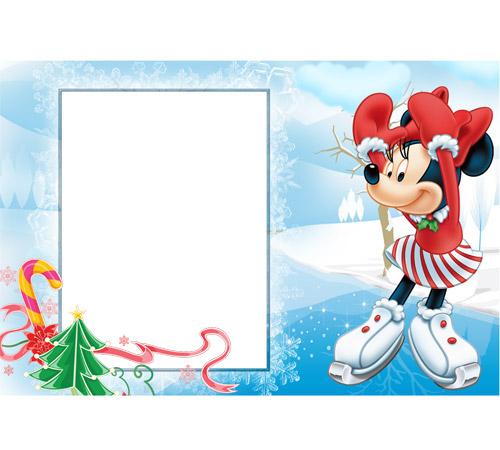 Детские рамки для фотошопа: Новогодние катания